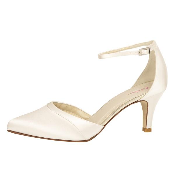 Brautschuhe Harper (Soft Bliss) SALE% in ivory Satin und weiß mit ...